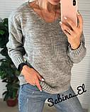Стильний жіночий светр на осінь, 42-46р, колір пудра, фото 5