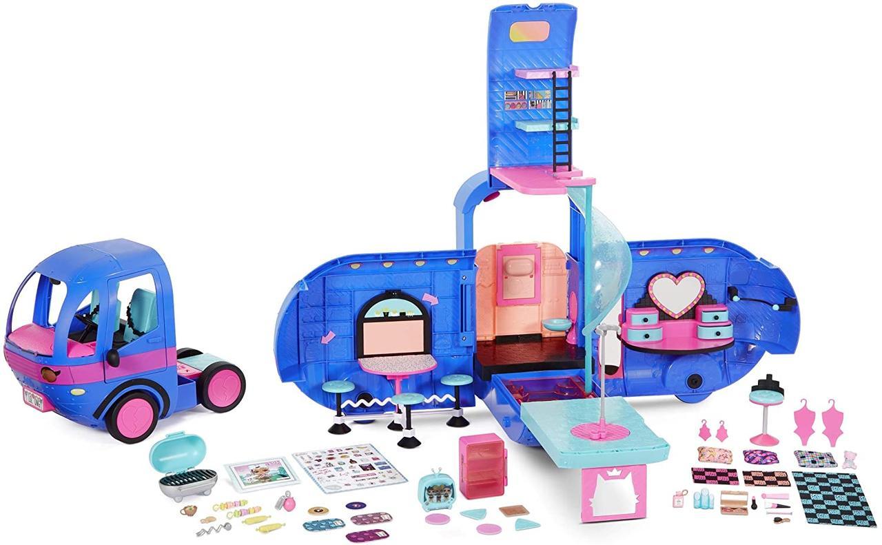 Синий Кемпер для кукол ЛОЛ Оригинал L.O.L. Surprise! O.M.G. 4-in-1 Glamper Fashion Camper (569459)