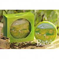 """Свеча декоративная для дома """"Зеленый чай"""" SW933, в форме диска, ароматизированная, в коробке, арома свеча,"""