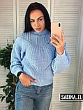 Теплый женский свитер, стильный, 42-46р,  цвет лиловый, фото 7