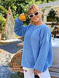 Модний подовжений стильний светр, 42-46р, колір червоний, фото 3