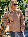 Модний подовжений стильний светр, 42-46р, колір червоний, фото 6