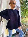 Модний подовжений стильний светр, 42-46р, колір червоний, фото 7