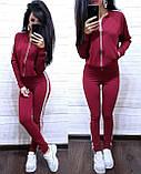 Женский спортивный костюм, костюм для прогулок есть большой размер S/M/L/XL (черный), фото 6