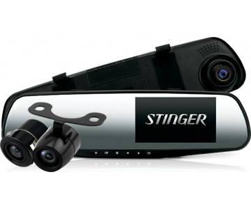 Зеркало регистратор Stinger ST DVR-M489FHD cam с камерой заднего хода, фото 2