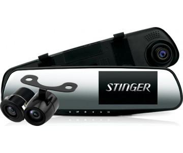 Зеркало регистратор Stinger ST DVR-M489FHD cam с камерой заднего хода