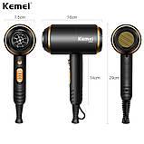 Профессиональный фен для волос Kemei Km-8896, фото 4