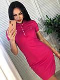 Модное стильное платье, спорт стиль Lacoste,  S/M/L/XL/XXL, цвет голубой, фото 9