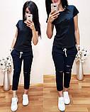 Модный женский летний костюм, турецкий трикотаж есть большой размер S/M/L/XL/2XL/3XL/4XL, фото 5