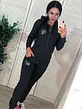 Стильный спортивный костюм, турецкий трикотаж, S/M/L/XL, цвет серый, фото 3