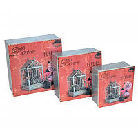 Металлическая коробка для подарка FF0207, из 3 шт, Коробки декоративные, Коробочки для вещей, Коробки для