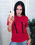 Легкая стильная футболка, Armani, S/M/L/XL, цвет черный, фото 2