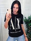 Брендовая стильная футболка, Armani, S/M/L/XL, цвет оранжевый, фото 2