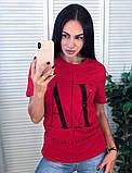 Брендовая стильная футболка, Armani, S/M/L/XL, цвет оранжевый, фото 3