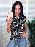 Стильная летняя футболка, Dior, S/M/L/XL, цвет серый, фото 4