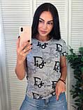 Стильная летняя футболка, Dior, S/M/L/XL, цвет черный, фото 2