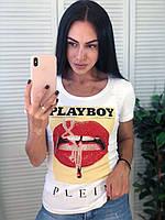 Брендовая летняя футболка, РР, S/M/L/XL, цвет белый