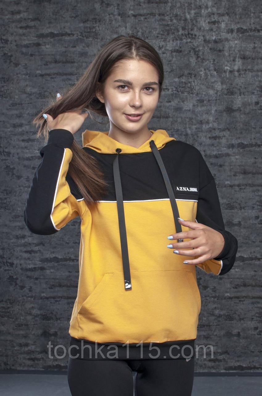Спортивный женский батник, S/M/L/XL, цвет горчичный