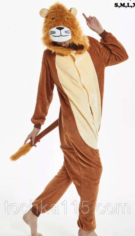 Пижама кигуруми Взрослые лев