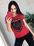 Летняя брендовая футболка, РР, S/M/L/XL, цвет черный, фото 2