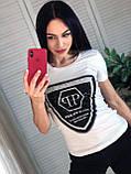 Летняя брендовая футболка, РР, S/M/L/XL, цвет черный, фото 3