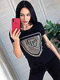 Летняя брендовая футболка, РР, S/M/L/XL, цвет белый, фото 2