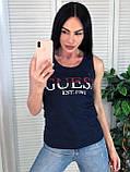 Стильная майка, Guess, легенькая, белого цвета, S/M/L/XL, фото 2