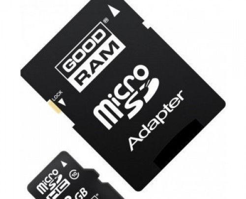 Карта памяти GoodRam microSD 8GB class 10 с SD