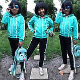 Стильний дитячий спортивний костюм, турецька двухнитка, фото 3