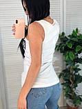 Стильная удобная майка, Moschino, белого цвета, S/M/L/XL, фото 2