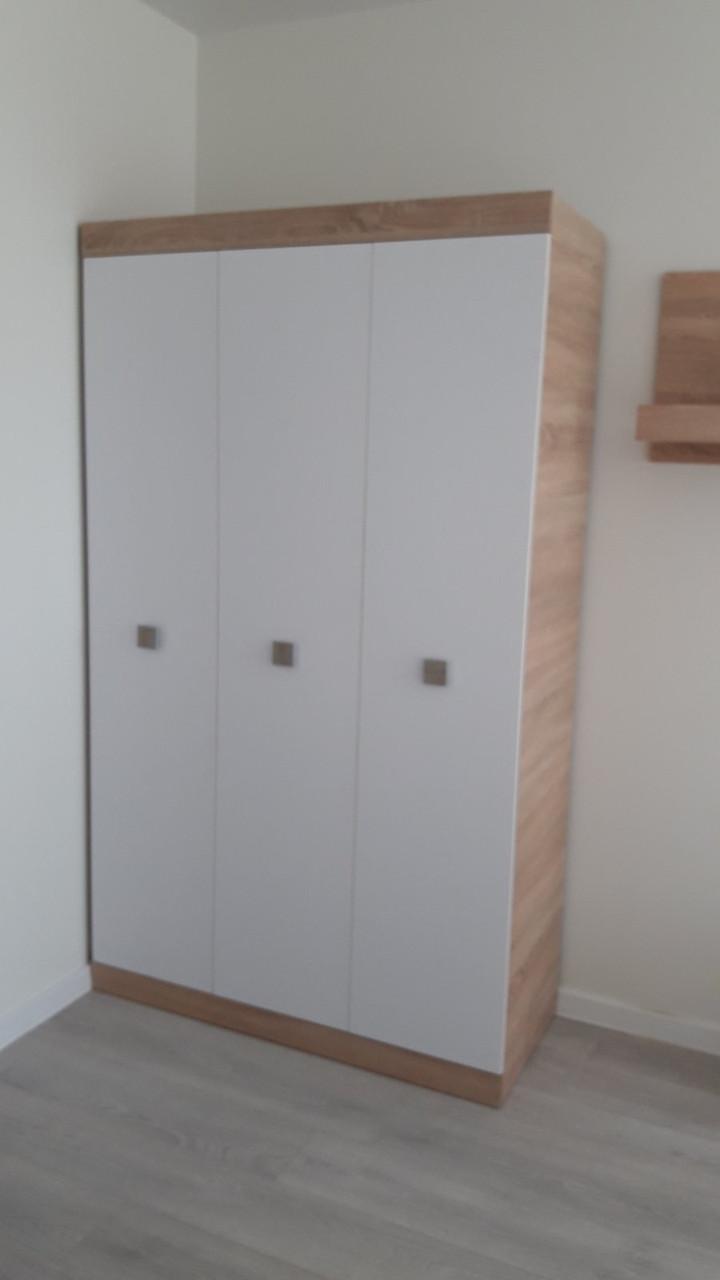 Шкаф Дуб сонома + Белый 120х50х206 см