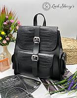 Женский рюкзак 011 черный,  женские рюкзаки купить оптом недорого в Украине, фото 1