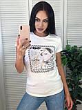 Брендовая футболка Fendi, очень стильная, S/M/L/XL, цвет черный, фото 3