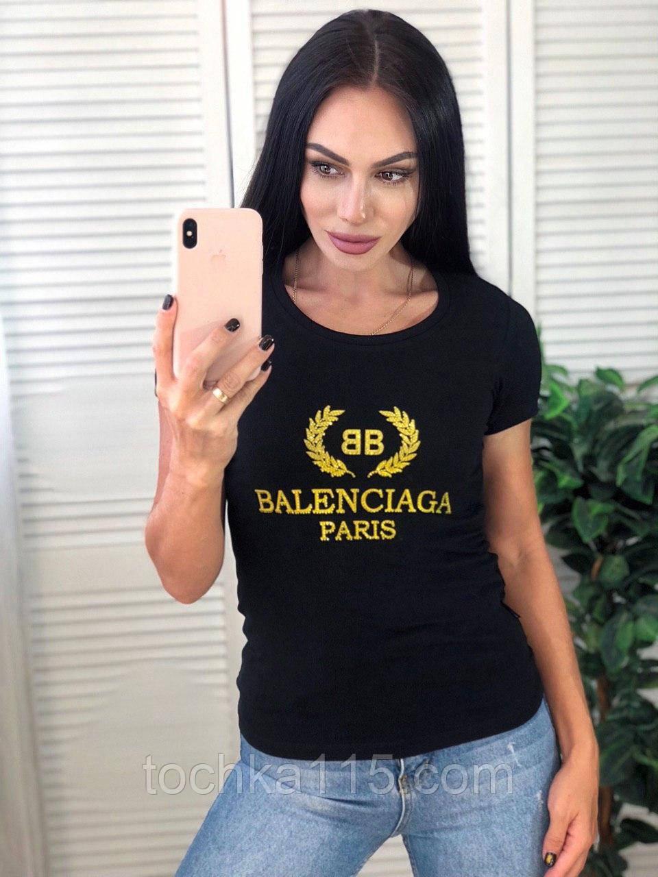 Женская футболка Balenciaga, очень стильная, S/M/L/XL, цвет черный