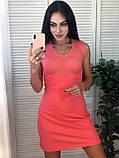 Спорт платье, в стиле Lacoste, S/M/L/XL/XXL, цвет розовый, фото 4