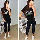 Стильный молодежный комплект Gucci, легкий трикотажный костюм на лето S/M/L, фото 2