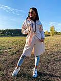 Трендовое кашемировое пальто в рубашечном стиле, 42-44, 46-48 рр, бежевый, фото 4