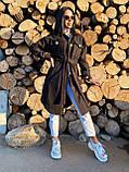 Трендовое кашемировое пальто в рубашечном стиле, 42-44, 46-48 рр, бежевый, фото 5