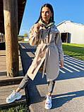 Трендовое кашемировое пальто в рубашечном стиле, 42-44, 46-48 рр, бежевый, фото 6