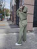Мягкий комфортный женский костюм, (42-48р), цвет оливка, фото 3
