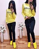 Женский бирюзовый турецкий спортивный костюм CELINE двухнитка весна/лето S/M/L/XL, фото 8