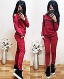 Женский однотонный черный спортивный костюм CELINE двухнитка весна/лето S/M/L/XL, фото 5