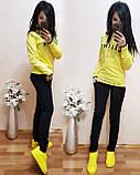 Женский однотонный черный спортивный костюм CELINE двухнитка весна/лето S/M/L/XL, фото 7