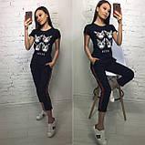 Стильная белая женская футболка на лето модный принт S/M/L/XL, фото 8