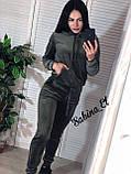 Стильный спортивный костюм, бархат люкс , 42-44, 46-48 рр, цвет фиолетовый, фото 2