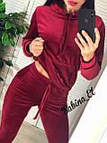 Стильный спортивный костюм, бархат люкс , 42-44, 46-48 рр, цвет фиолетовый, фото 4
