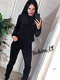 Стильный спортивный костюм, бархат люкс , 42-44, 46-48 рр, цвет фиолетовый, фото 5