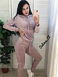Стильный спортивный костюм, бархат люкс , 42-44, 46-48 рр, цвет фиолетовый, фото 6