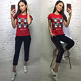 Стильная женская футболка на лето модный принт S/M/L/XL, фото 2