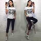 Стильная женская футболка на лето модный принт S/M/L/XL, фото 4